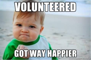 Volunteered happier