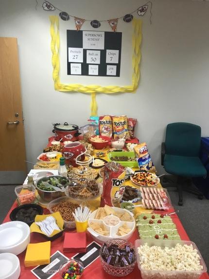 JCCC Food spread - Super Bowl 2020